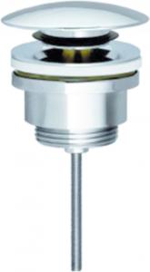 Bonde à vis pour lavabo adaptable sur bidet avec dispositif de fermeture