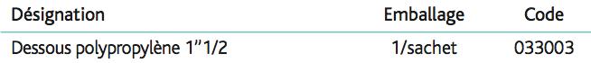 Bonde pour évier grès Ø60 sans trop-plein Bonde à grille 1''1_2