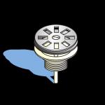 Schéma Bonde à grille inox Ø 65 mm