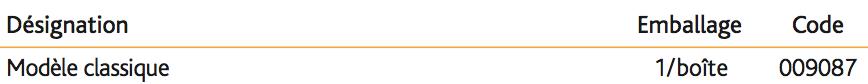 Siphon complet en laiton chromé Modèle classique