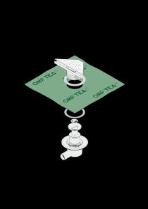 Siphon d'angle de douche MINIFLOW T