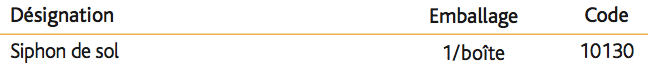 Siphon de sol Sortie verticale à visser 1''1_4
