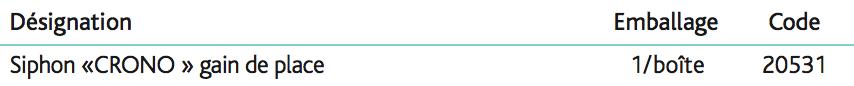 Siphons réglables CRONO Siphon gain de place « CRONO » 1''1_4