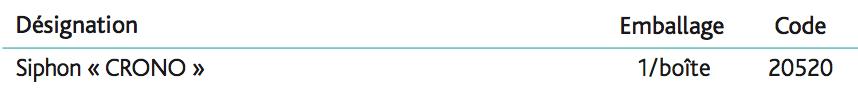 Siphons réglables CRONO Siphon réglable en hauteur « CRONO » 1''1_4