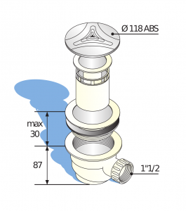 Bonde de douche à sortie horizontale Ø 90 mm (2)