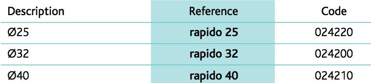 Rapidoflex articulated hose - ringed PP